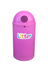 Picture of Micro Slimline Classic Litter Bin with Litter Letters