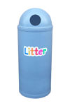 Picture of Slimline Classic Litter Bin with Litter Letters
