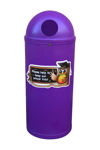 Picture of Slimline Classic Litter Bin with Owl Graphics