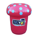 Picture of Mushroom Litter Bin with Owl Graphics