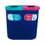 Picture of Popular Twin Recycling Bin with Recycling Character Graphics