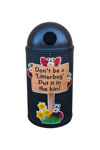 Picture of Micro Slimline Classic Litter Bin with Litterbug Graphics