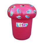 Picture of Mushroom Litter Bin with Bugs & Litter Letters
