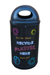 Picture of Classic Recycling Bin with Blackboard Graphics