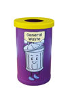 Picture of Small Popular Recycling Bin with Recycling Character Graphics