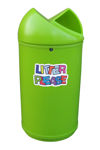 Picture of Twist Litter Bin with Litter Please Wording Graphic