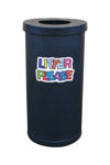 Picture of Popular Litter Bin with Litter Please Wording Graphics