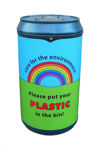 Picture of Drinks Can Recycling Bin with Rainbow Graphics
