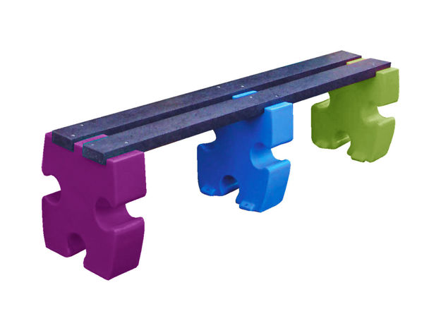 Picture of Jigsaw 3 Person Bench