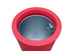 Picture of Micro Slimline Classic Litter Bin with Owl Graphics