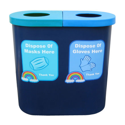 Picture of PPE Twin Bin for Mask / Glove Disposal
