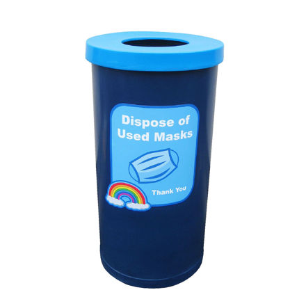 Picture of PPE Bin for Mask / Glove Disposal