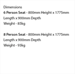Picture of Double-Sided 6-8 Person Seat