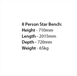 Picture of Star 8 Person Bench