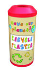 Picture of Midi Recycling Bin with Open Top Lid & Graphics