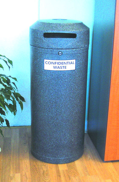 Picture of Continental Litter Bin with Paper Slot for Confidential Waste