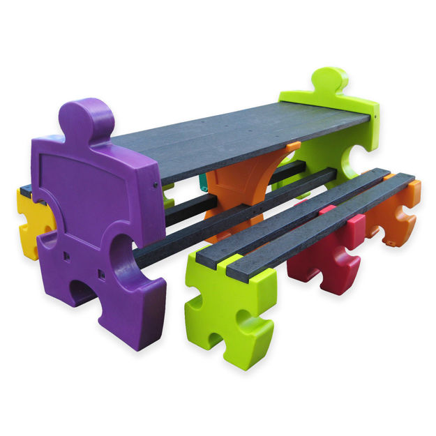 Picture of Jigsaw 6 Person Table & Bench Set