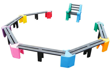 Picture of Multi-coloured Large Learning Curve with Teachers Chair