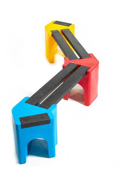 Picture of Multi-coloured Zig-Zag Benches - 4 person