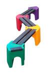 Picture of Multi-coloured Zig-Zag Benches - 6 person