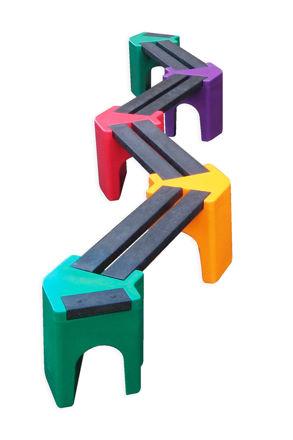 Picture of Multi-coloured Zig-Zag Benches - 8 person