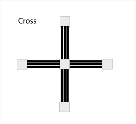 Picture of Modular Cross Shape with Planter Boxes (MSP-5)