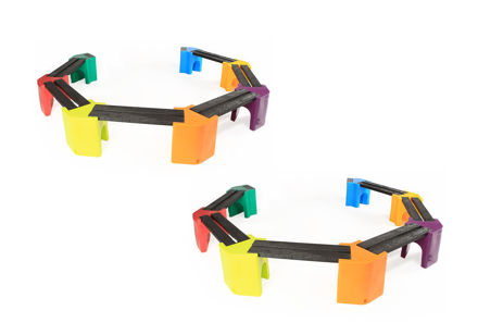 Picture of Multi-coloured Learning Curve - Double Unit