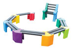 Picture of Multi-coloured Learning Curve with Teachers chair