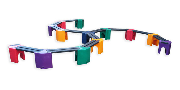 Picture of Multi-coloured Spiral Benches - 24 person