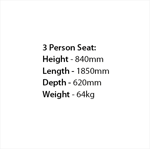 Picture of 100% Recycled 3 Person Premier Seat