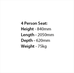 Picture of 100% Recycled 4 Person Premier Seat