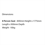 Picture of Double-Sided 8 Person Seat