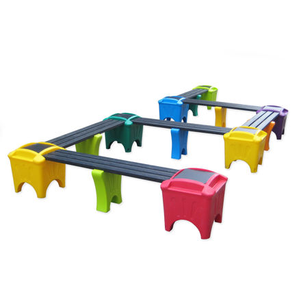 Picture of Modular Snake Shape with Flat Top Boxes (MSF-7)