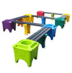 Picture of Modular Snake Shape with Planter Boxes (MSP-7)