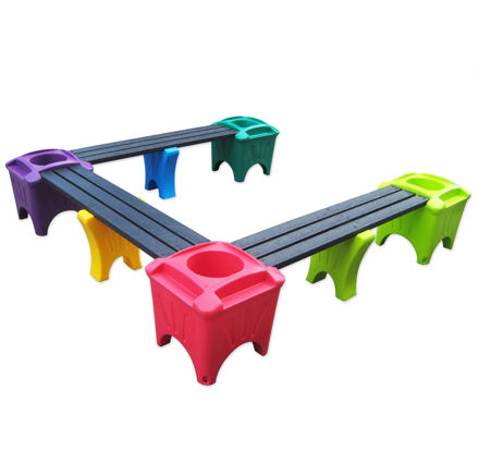 Picture of Modular U Shape with Planter Boxes (MSP-4U)
