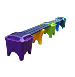 Picture of Modular Double Bench or Corner Shape with Flat Top Boxes (MSF-3)