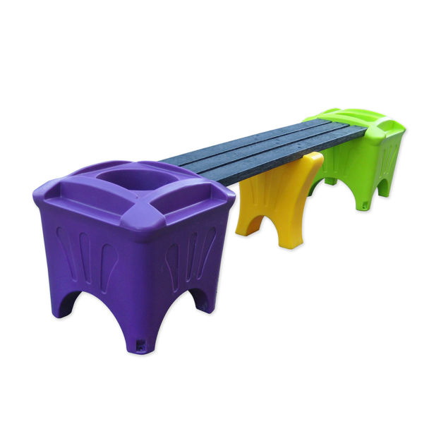 Picture of Modular Single Bench with Flat Top Boxes (MSF-2)
