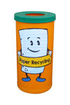 Picture of Set of 4 Popular Recycling Bin with Recycling Character Graphics
