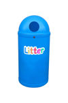 Picture of Set of 4 Micro Slimline Classic Litter Bins with Litter Letters