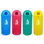 Picture of Set of 4 Slimline Classic Litter Bins