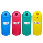 Picture of Set of 4 Slimline Classic Litter Bins with Litter Letters