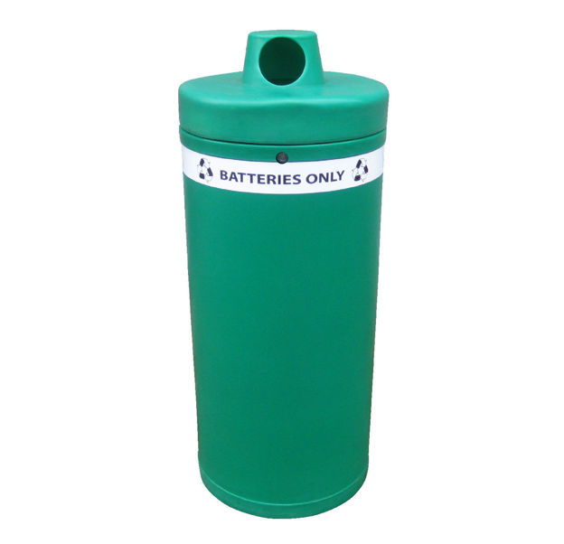 Picture of Battery Recycling Bin with Banding